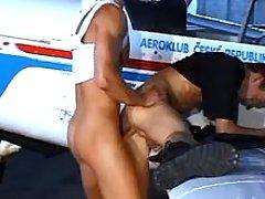 Gay pilots having anal pleasure by plane