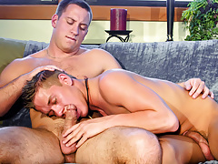 Jesse Is So Clammy To Trot He Goes Down On Caleb's Vast Woody