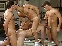 Super sweaty and sexually intrigued group sexual act going on at the men Poker night!