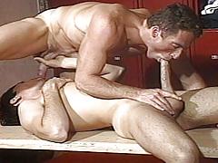 Scott falls his vast weenie up Dean's booty pumping him hard !