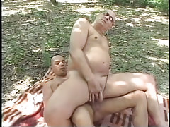 Placid faggot smokin' in the bright forest in 5 episode