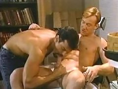 Gay clerks do sweaty anal in office