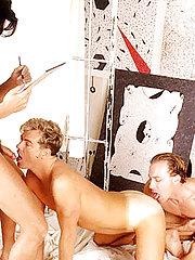 Damp Male+Male+Female Cock Munching