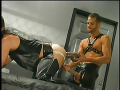 Leather  dudes having gay banging in 3 episode