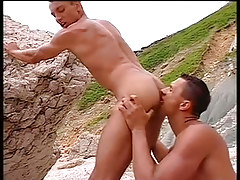 Muscular jocks have hot anal on beach in 1 episode