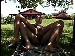 A sultan sucks his slaves cocks in 3 motion picture