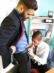 Kayden is hard at work and swamped in TPS reports when his boss Tommy walks in to check up on his progress with the reports. Tommy gets uncomfortably