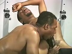 Black man-lover doxy serving hungry hunk