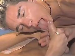 Gay accepts cum and jizzes in gullet