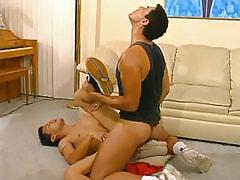 Mature man-lover bonks cute homosexual on floor