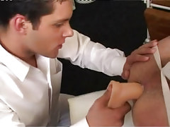 Hot gay plays with colossal appliance