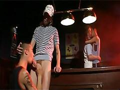 Gay gays lick and engulf cocks afterwards billiard