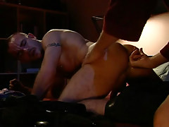 Dad fingering  chap in bed
