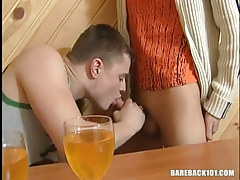 Drunk adolescent gay guy sucks tasty cock