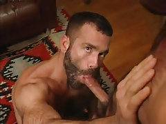 Hairy faggot throats massive snake in abode hunting
