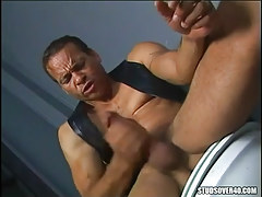Latin dilf plays with rod