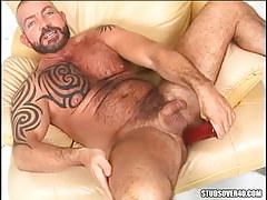 Mature bear gay heavy dildofucks