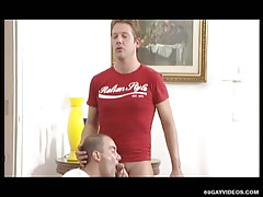 Hot homosexual sucks appetizing cock