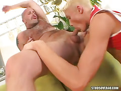 Hot fairy-haired mate throats appetizing penis of bear