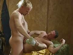Blond gay rough jazzes boyfriend