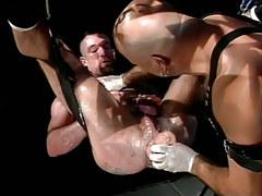 Muscle gay dildofucks shaggy man