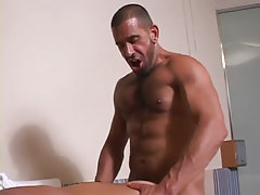 Hairy gay guy boy fucks guy in doggy style