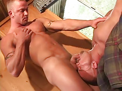 Gay guy sucked by lusty full-grown gay
