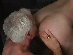 Silver faggot stud licks appetizing butt