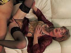 Luring effeminate covered in lace and nylon talked keen to scoring with a gay man